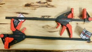 """2-Pieces 18"""" Craftsman Bar Clamps / Spreader -One Hand Quick Release Woodworking"""