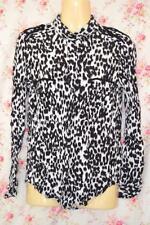 Zara Collared Animal Print Tops & Shirts for Women
