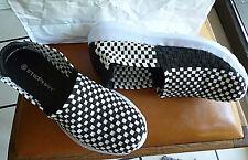 Stephan Slipper Damen Schuhe Sneaker geflochten schwarz weiß flexibel Neu