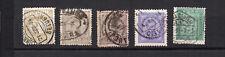 PORTUGAL 1882-1894 5 timbres pour journaux oblitérés /T3837