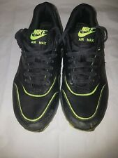 Boys nike WMNS Air Max 1 trainers black and yellow size 4