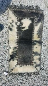 Authentic Cowhide Rug great for floor or as a furniture topper 36 in X 19 in