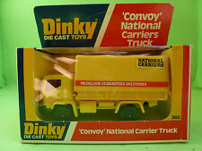 DINKY TOYS 383 CONVOY NATIONAL CARRIERS TRUCK  SELTEN RARE  IN MINT CONDITION