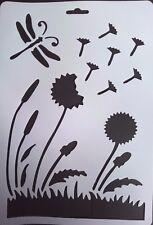 Dandelion Farfalla Stencil Card Making Scrapbooking AEROGRAFO PITTURA HOME Deco