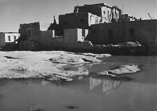 """Ansel Adams Adobe House with Water in Foreground (1941) - 17""""x22"""" Fine Art Print"""