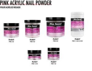 Mia Secret Acrylic Nail Powder Professional Nail System - Pink  Made in USA