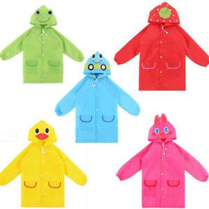 Kinder Regenjacke Regenmantel Regenbekleidung Wind Regen Schutz Anzug mit Kapuze