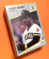50) BARRY BONDS Pittsburgh Pirates 1989 Fleer Baseball Card #202 LOT