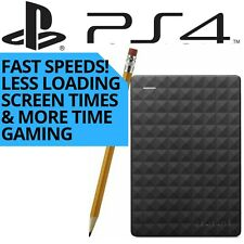 1TB USB 3.0 Fast External Hard Drive For PS4 / PS4 Slim / PS4 PRO / PSVR Seagate