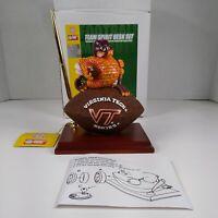 Virginia Tech Hokies Team Spirit Mascot Desk Set  Clock and Pen Holder NCAA New