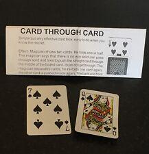 Vintage Card Magic Trick Card Through Card