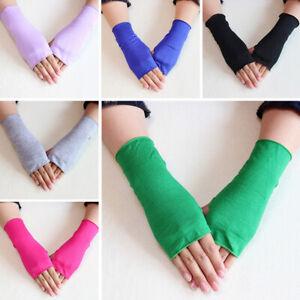 UV-Proof Fingerless Gloves Half Finger Summer Soft Oversleeve 1 Pair Breathable