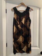 Dana Buchman Women XL Brown And Black Sleeveless Dress