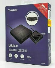 New Targus USB-C 4K Smart Dock Pro DOCK412USZ Black -NR3197