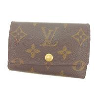 Louis Vuitton Key holder Key case Monogram Brown Woman Authentic Used Y4353