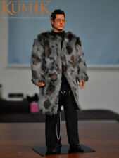 "1/6 Scale KUMIK KMF025 Brad Pitt Fur Coat 12"" Action Figure"