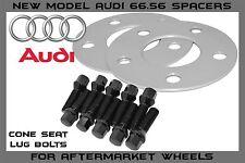 2 Pc | 5mm | Billet Hub Centric Wheel Spacers Audi Mercedes | 5x112 | 66.56 H.B