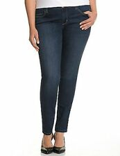 Seven7 Huxley Blue Skinny Jean Leggings Dark Blue Light Wash Size 16 New