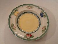 2x VILLEROY&BOCH French Garden Fleurence Suppenteller soup bowl/plate 23cm