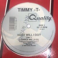 "Timmy-T What Will I Do Vinyl Record Original 1990 Latin Freestyle 12"" Near Mint"