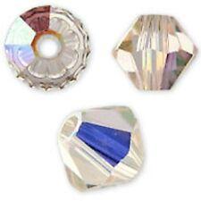 Swarovski Crystal Bicone Silk AB. 6mm. Approx. 48 PCS. 5328