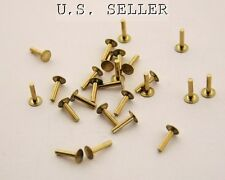 """Brass Solid Rivets 1.3mm Wide x 1/4"""" Long Package Of 100"""