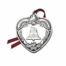 2011 Wallace 20th Annual Grande Baroque Sterling Silver Heart Ornament Medallion