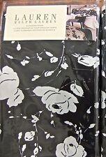 NIP-$175 RALPH LAUREN PORT PALACE BLACK FLORAL EUROPEAN PILLOW SHAM COTTON/SILK