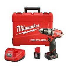 """New - Milwaukee 2404-22 M12 Fuel 1/2"""" Hammer Drill/Driver Kit"""
