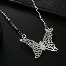 Hot Sale New 925 Silver Fashion Jewelry Hollow Butterfly Women Necklace LNB051