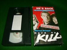 VHS *HARD TO KILL - STEVEN SEAGAL* 1990 Rare (Not For Sale) Dealer Only Edition