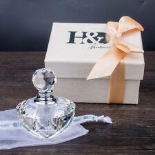 H&D Clear Crystal Glass Perfume Bottle Empty Art Bottle Valentine Lady Gift 2ml
