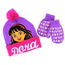 Dora and Friends Toddler Hat with Mittens Set Purple
