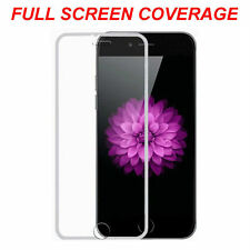 Tempered Glass Screen Protector Edge to Edge Silver For Apple iPhone 7 Plus