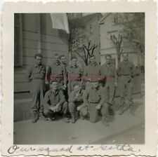 *WWII photo- 80th Infantry Division- ID'D US GI GROUP SHOT - GOTHA - Germany*