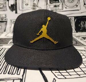 Nike Air Jordan Jumpman 23 Logo Black/Gold Adjustable Youth Snapback #9A1623-429