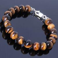 Tiger's Eye Gemstone Bracelet Raw Energy Prosperity Solar Charged Chakra Stones
