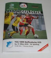 Neues AngebotProgramm FSV Gütersloh - TSG 1899 Hoffenheim U 20 - 17.03.2019 - 2. Liga Frauen