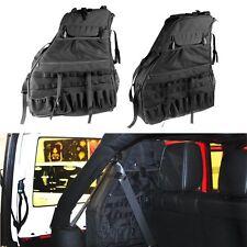 2x Multi-Pockets & Roll Bar Storage Cargo Bag for Jeep Wrangler JK 07-17 2/4Door
