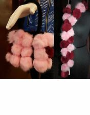 Rex Rabbit Fur Pom Pom Purse & Matching Ball Scarf