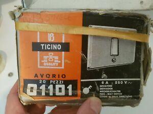 20 Ticino Italy retro vintage 2 way vintage ivory light switches