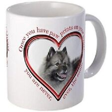 11oz mug Keeshond Paw Prints - White Ceramic Coffee/Tea Cup