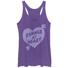 Chin Up Apparel Tank Top Athletic Running Sheer Purple Woman's Size Large