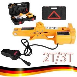 12V 2T/ 3T Elektrischer Wagenheber Scherenwagenheber Doppelköpfe Automotive WE