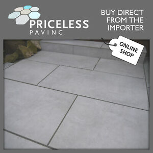 PORCELAIN PAVING Bullnosed Steps Risers 20mm Grey Outdoor Patio Vitrified 1200mm