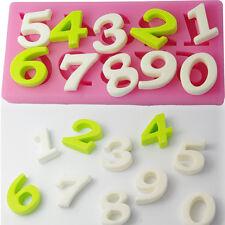 2x Zahlen Silikon Kuchen Fondant Kuchenform Schokoladeform Schimmel 6x3.3x0.6cm.