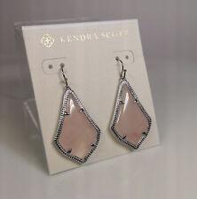 Kendra Scott Alex Drop Earrings in Pink Quartz / Gold
