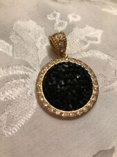 Lia Sophia Cavern Slide Pendant Gold Black
