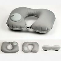 U Shaped Self Inflatable Air Pillow Cushion Portable Travel Hiking Camping Rest