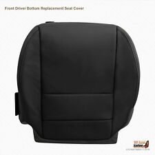 2007 - 2012 Acura MDX - Front DRIVER Bottom Replacement Leather Seat Cover BLACK